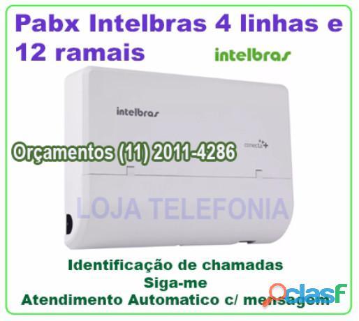 INSTALAÇÃO DE PABX DIGITAL INTELBRAS IMPACTA 1