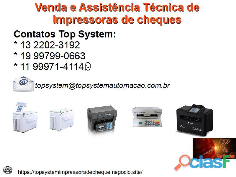 Assistência técnica e venda de impressoras de cheque em PIRAcicaba / SP 1
