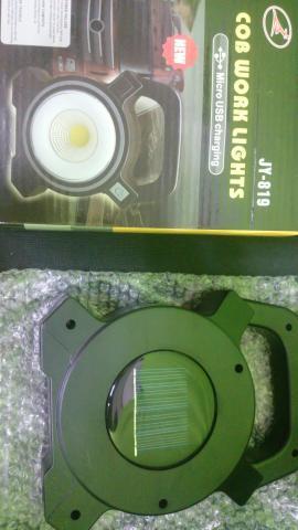 Lanterna Farolete Jy-819 Carrega Energia Solar 10w Bivolt 0