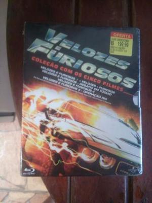 Box Bluray Velozes e Furiosos + Sherlock Holmes 0