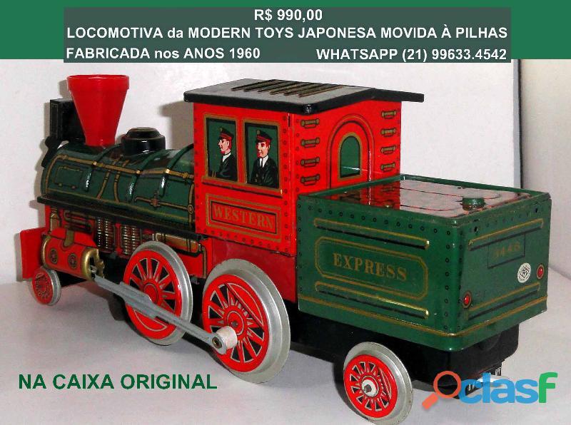 Locomotiva da Modern Toys, na caixa original. Raríssima. 3