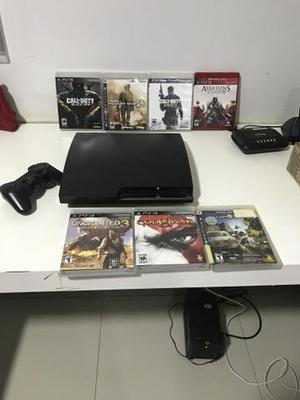 PS3 PlayStation - 120 GB - Original - 7 Jogos 0