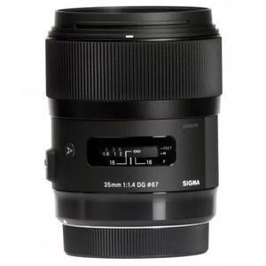 Lente Sigma Dg 35mm F/1.4 Hsm Art Para Nikon Preto 0