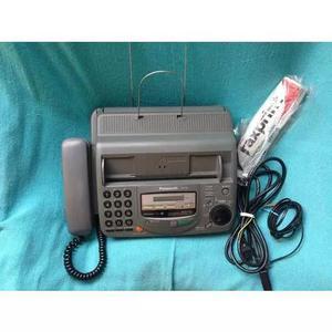 Fax Telefone Panasonic Recorder Kx Ft 68 Cinza Completo 0