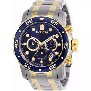 Relógio Invicta Pro Diver 0077 Misto Aço E Ouro 100% 2018 0