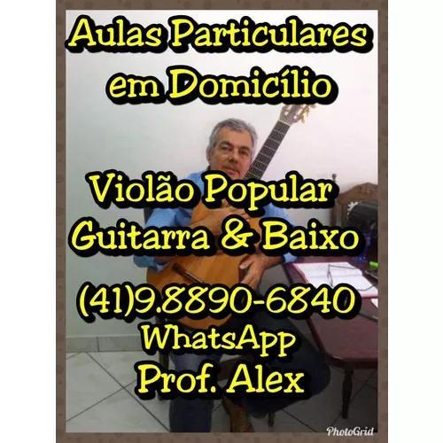 41)98890-6840 Wts. Aulas Particulares Violão & Guitarra 0