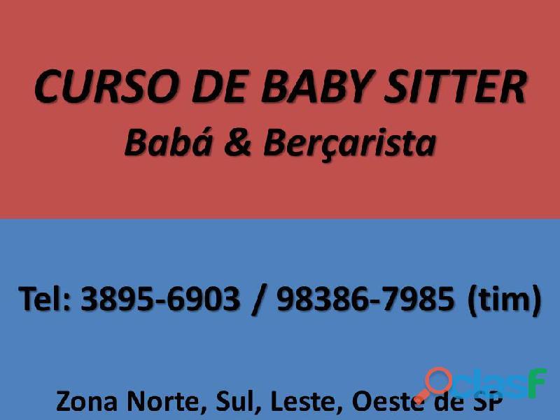 CURSO DE BABÁ E BERÇARISTA ZONA NORTE SANTANA TUCURUVI 0