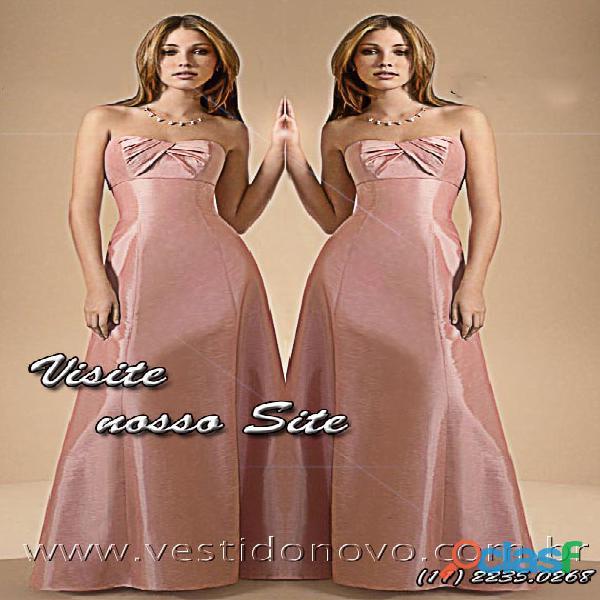 Vestido rose em cetim importado ideal para Mãe do Noivo 0
