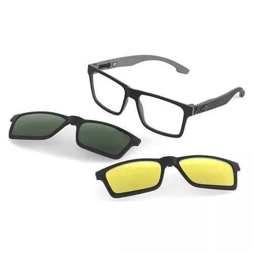 Armação Oculos Grau Mormaii Swap M6057aga56 Clip On 0