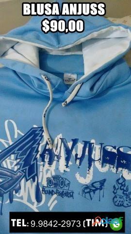 Blusa Anjuss (Azul Bebê) Unissex 0