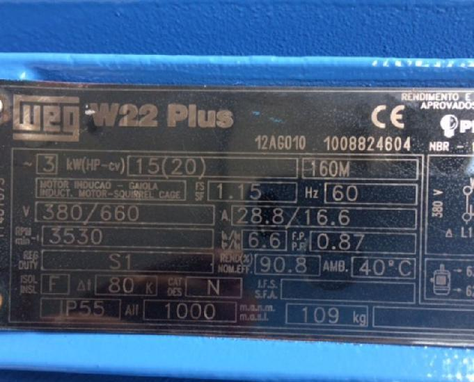 Motor Elétrico W22 Plus Weg 20 Cv 3500 Rpm Trifásico 0