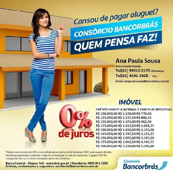 Bancorbrás consórcios 0