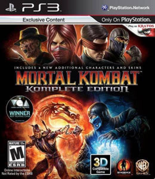 Mortal Kombat Komplete Edition ps3. 0