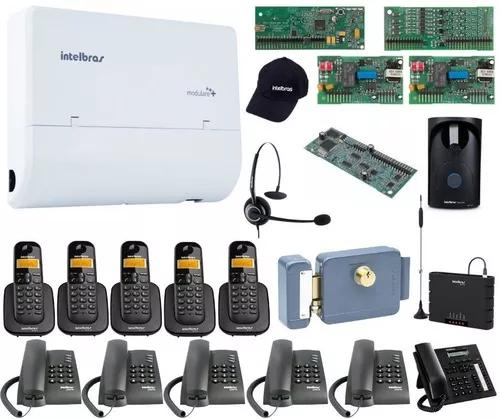 Kit Pabx Telefonia 4x12 Disa Bina Intelbras Acessorios Kit16 0