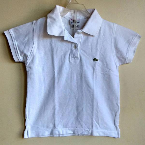 camisa polo infantil lacoste original - 4 anos 0