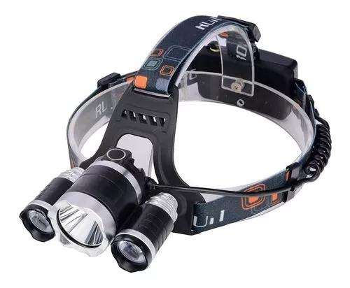 Lanterna Cabeça Triplo T6 Led Cree Profissional Tática 0