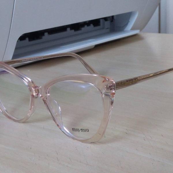 armação de óculos de grau feminino miu miu mm1268 0