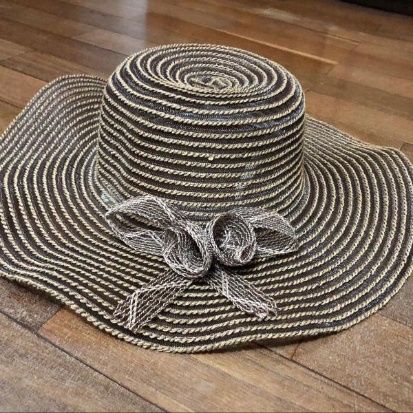 chapéu marrom praia 0