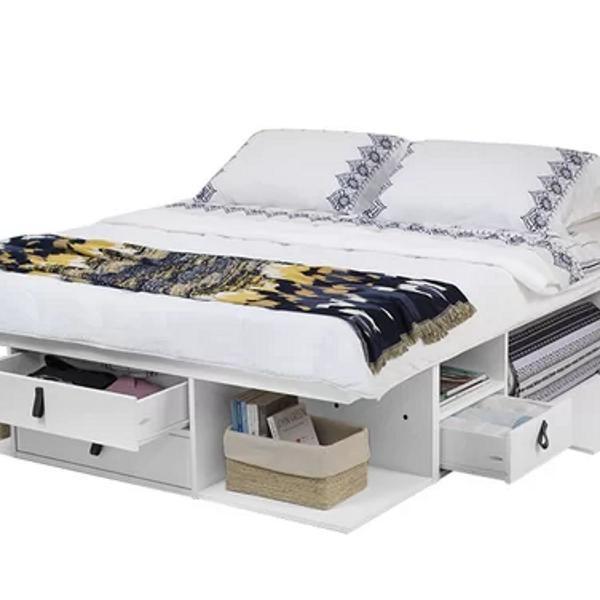 cama queen bali meu móvel de madeira 0