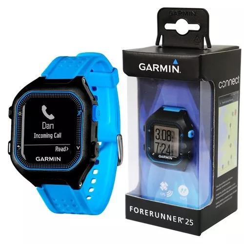 Relógio Gps Monitor Corrida Garmin Forerunner 25 Preto Azul 0