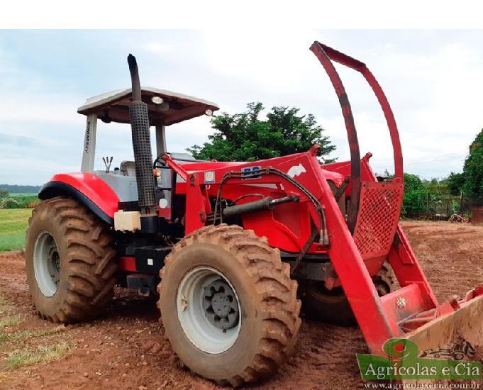 Trator Massey Ferguson 7140 4x4 Lamina Concha e Enleirador! 0