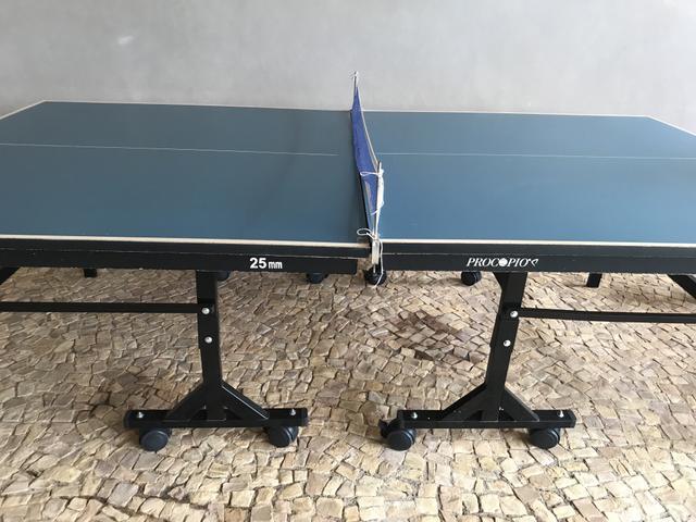 Mesa Tênis de Mesa Ping Pong Pared?o com Rodas 0