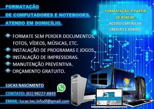 Formatação De Computador E Notebook 0