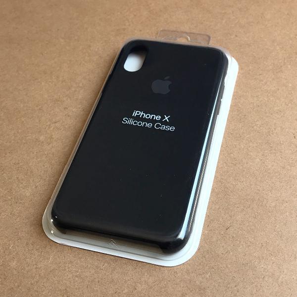 capinha silicone apple - iphone x preto 0