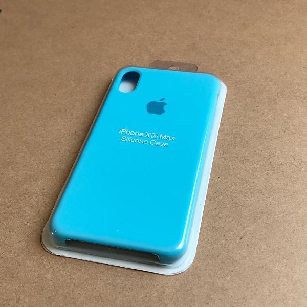 capinha silicone apple - iphone xs max azul turquesa 0