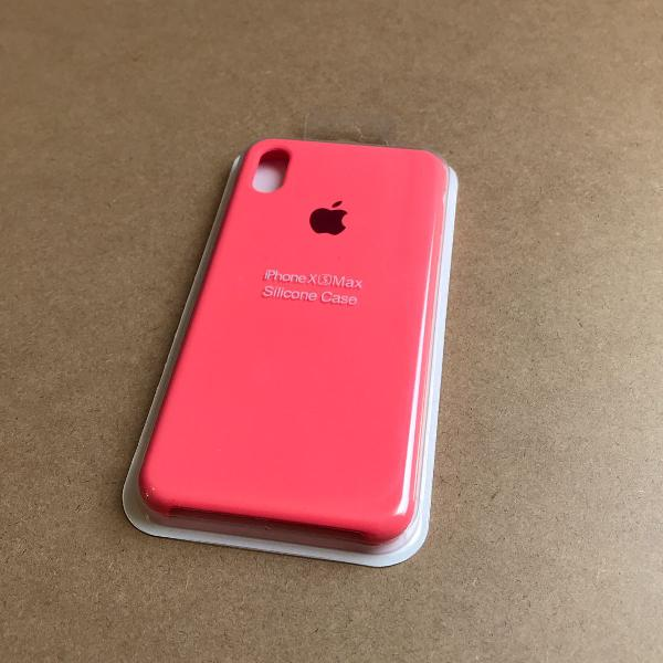 capinha silicone apple - iphone xs max laranja neon 0