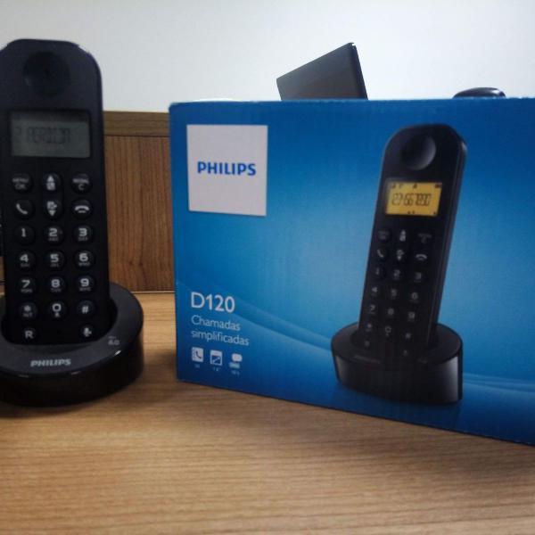 telefones philips d120 e padrão lig 0