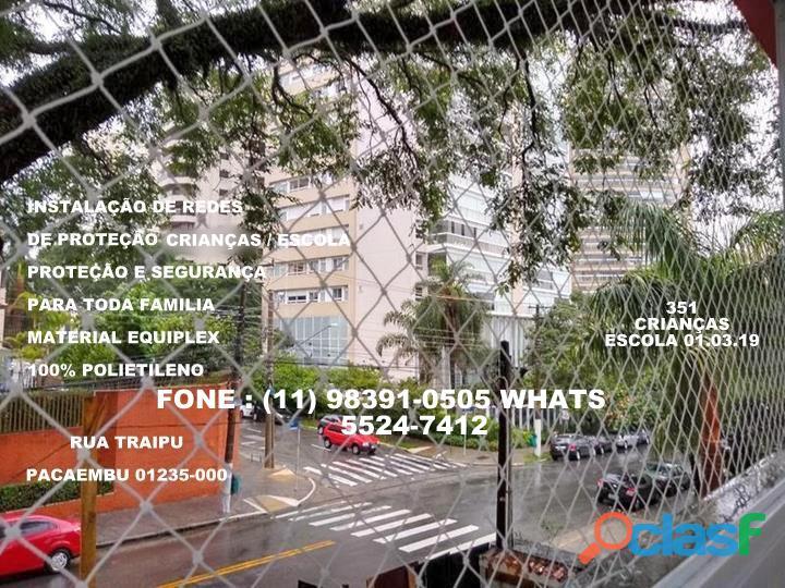 Telas de Proteção na Rua Traipu, Pacaembru, (11) 5541 8283 3