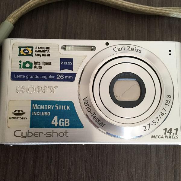 câmera fotográfica digital cyber shot sony 14.1 mega pixel 0