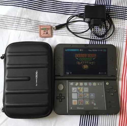 Nintendo 3ds Xl + Jogos (ler Descrição) + Case + Cabo 0
