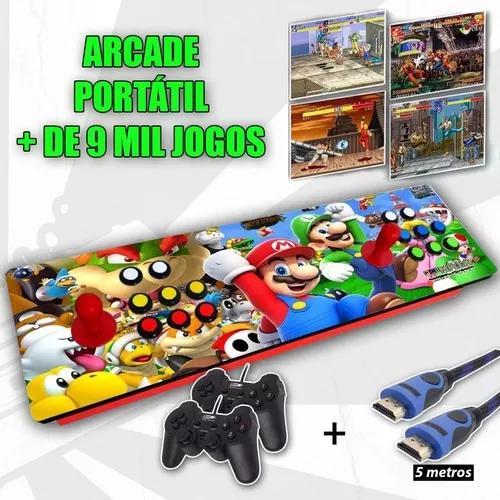 Fliperama Controle Arcade Portátil - Multijogos 9 Mil Jogos 0