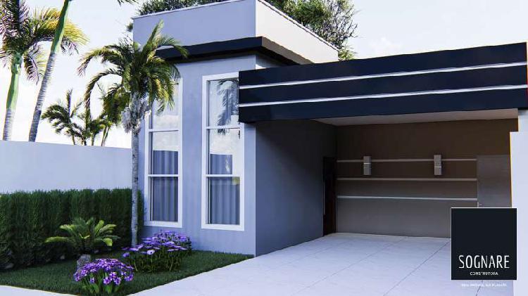 Casa com Garagem embutida 70 m² + Lote 200 m² + Toda 0