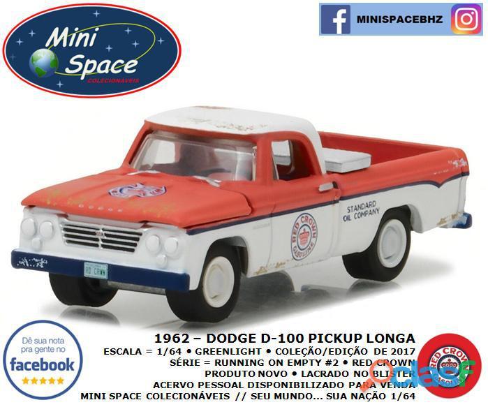Greenlight 1962 Dodge D 100 Pickup Longa (Red Crown)1/64 3