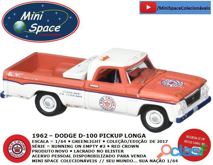 Greenlight 1962 Dodge D 100 Pickup Longa (Red Crown)1/64 5