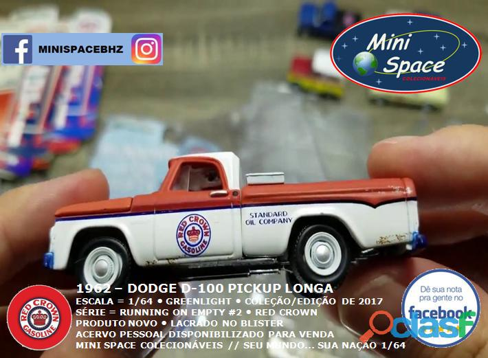 Greenlight 1962 Dodge D 100 Pickup Longa (Red Crown)1/64 6