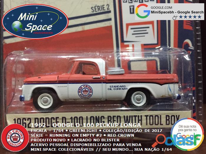 Greenlight 1962 Dodge D 100 Pickup Longa (Red Crown)1/64 7
