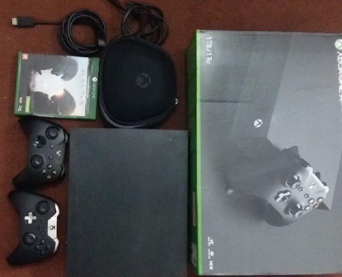 Xbox One X HD TB 2 jogos com garantia novo 0