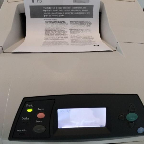 impressora hp laserjet 4300dtn - frente e verso (55 ppm) 0