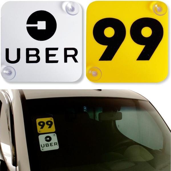 plaquinha para uber e 99 0