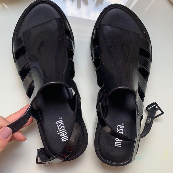 sandália flatform melissa 0