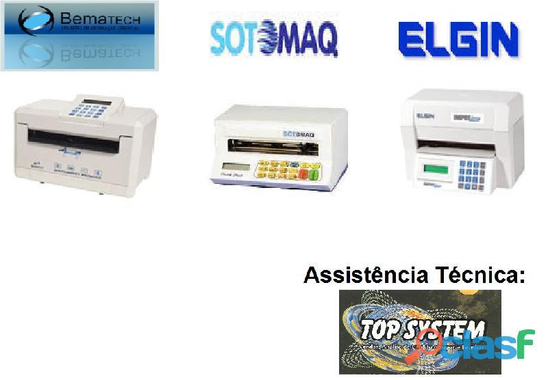 Impressoras de cheque sotomaq pratic check, bematech, elgin; assistência técnica em piracicaba