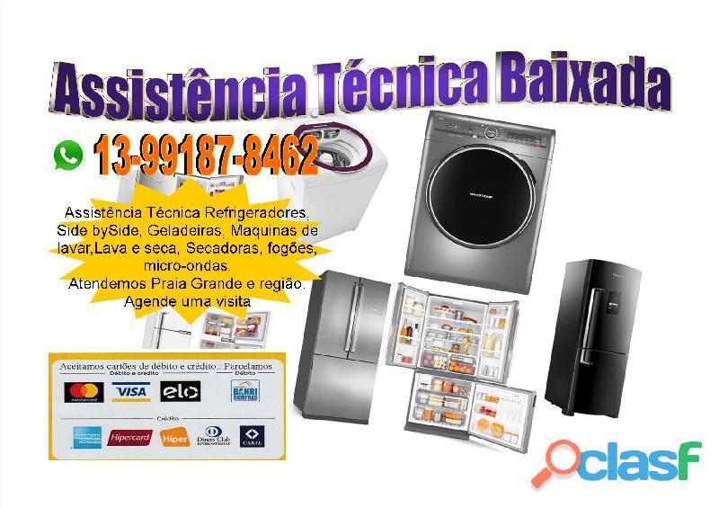 Conserto de geladeiras e Refrigeradores em Praia Grande (13) 99187 8462