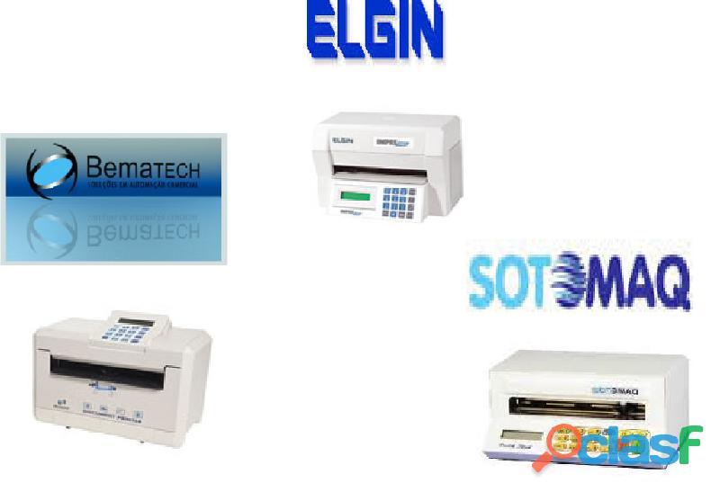 Fitas para impressoras de cheque sotomaq pratic check, elgin imprecheq, bematech document print
