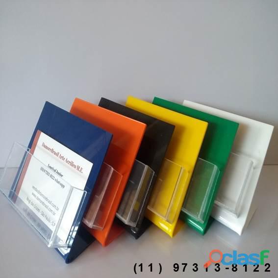 Porta cartão de mesa acrílico