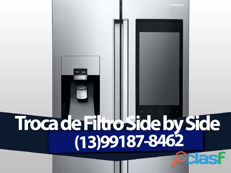 Troca de filtro agua para Refrigerador ligue(13) 99187 8462