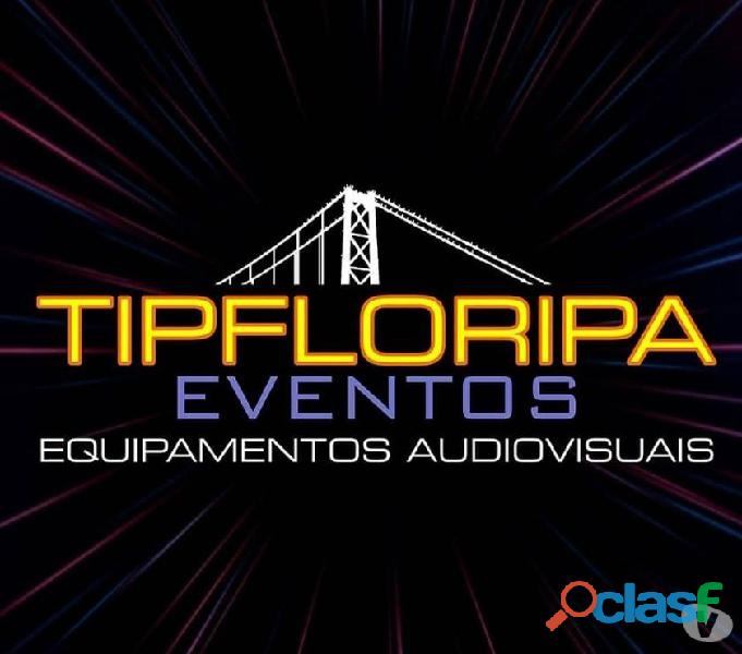 Tipfloripa locação projetor telão som tv led notebooks / eventos